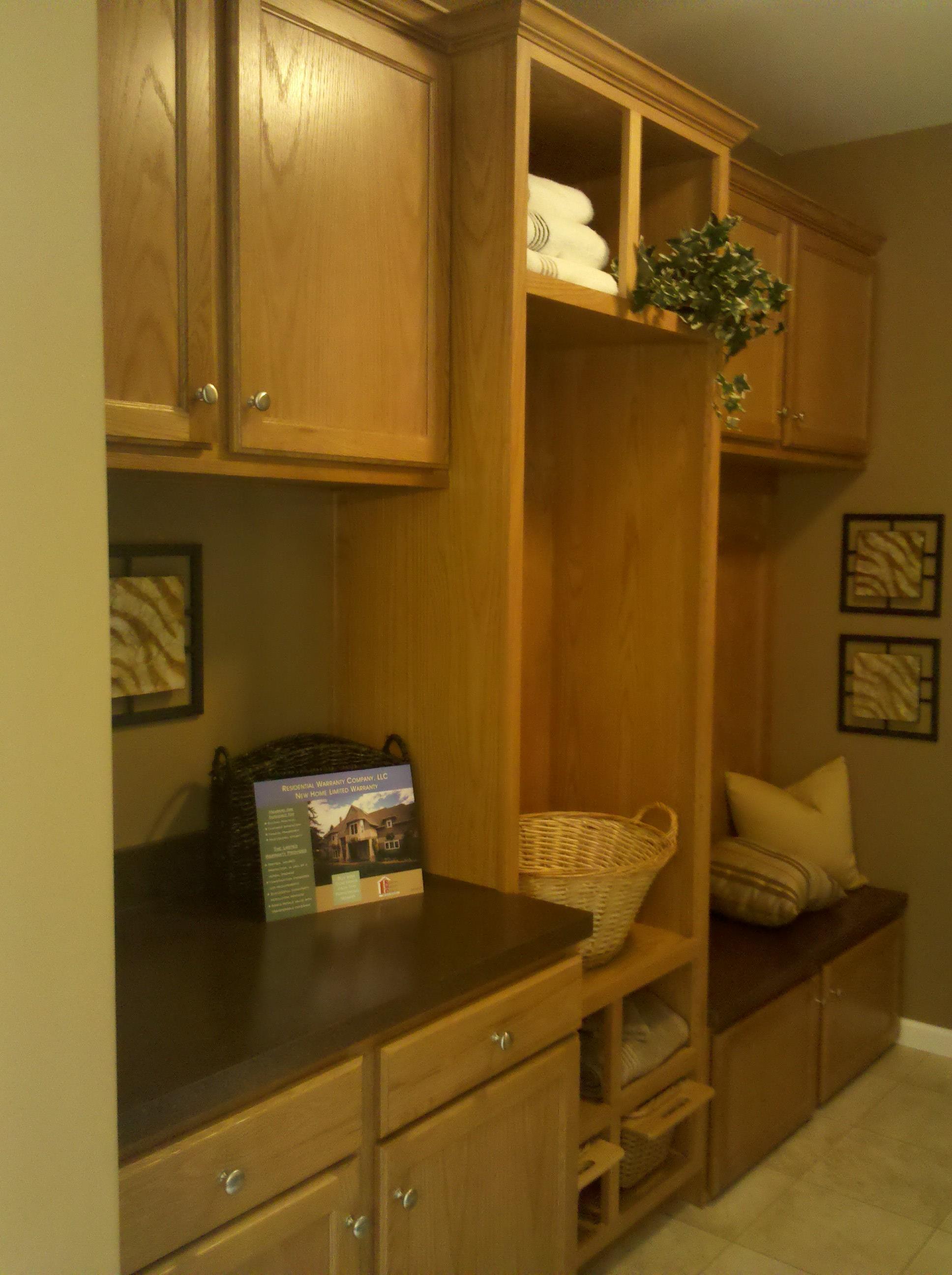 Utility Cabinets - Oak